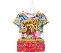 leopard floral T-shirt
