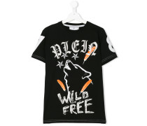 "TShirt mit ""Wild and Free""Print"