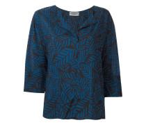v-neck printed blouse