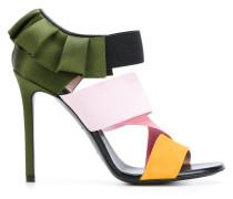 Stiletto-Sandalen mit Rüschendetails