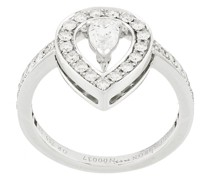 18kt Weißgoldring mit Diamant