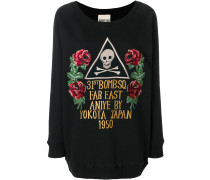 oversized rose patch jumper