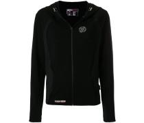 textured logo hoodie