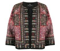 Schmale Jacke mit Paisley-Print