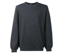 Sweatshirt mit geripptem Rundhalsausschnitt