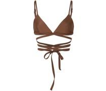 Triangel-Bikinioberteil im Wickelstil