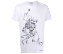 """T-Shirt mit """"Lovers Skeleton""""-Print"""