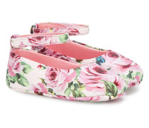 rose print ballerina shoes