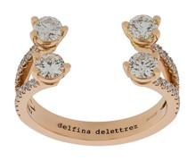 18kt 'Dots Diamond' Rotgoldring