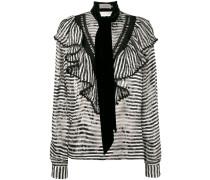 Gestreifte 'Phillipa' Bluse mit Schal