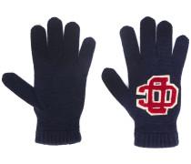 Handschuhe mit Logo-Stickerei