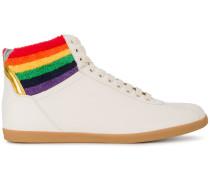 High-Top-Sneakers mit bunten Streifen