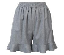 Shorts mit Volant-Saum