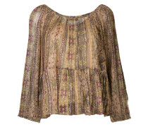 peasant blouse with print