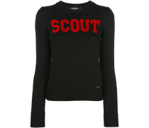 Contrast scout sweater