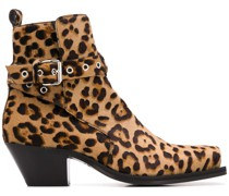 Stiefel mit Leoparden-Print, 60mm