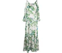 Langes Kleid mit Blumen-Print