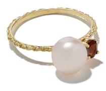 18kt Gelbgoldring mit Perlen