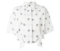 Cropped-Hemd mit Gänseblümchen-Print - women