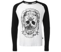 Langarmshirt mit Totenkopf-Print
