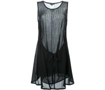 Semi-transparentes Kleid mit rundem Ausschnitt