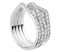 18kt 'Antifer' Weißgoldring mit Diamanten