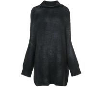 Pullover mit drapiertem Kragen