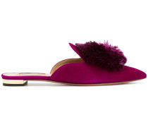 pointed Powder Puff mules