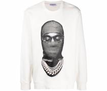Sweatshirt mit Gesicht-Print