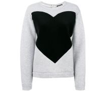 Sweatshirt mit Herzmotiv