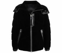 padded velvet jacket