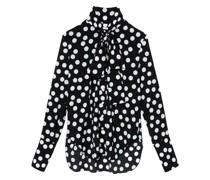 Gepunktetes Hemd mit Schluppe