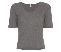 V-neck ribbed short sleeve t-shirt
