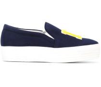 "Slip-On-Sneakers mit ""LA""-Patches"