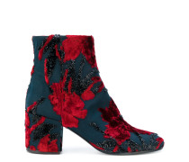 P.A.R.O.S.H. Florale Stiefel mit Blockabsatz