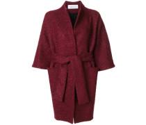 drawstring kimono coat