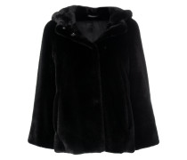 faux-fur fitted jacket