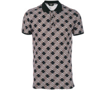 embroidered fitted polo top