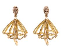 Blütenförmige Ohrringe mit Kristallen