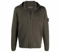 sleeve logo-patch hoodie