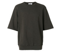 short sleeve raw stitch sweatshirt