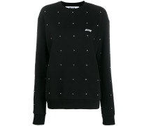 Sweatshirt mit verziertem Ausschnitt