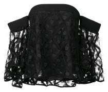 Schulterfreies Kleid mit ausgestellten Ärmeln