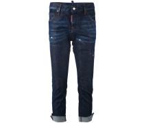 'Jennifer' Cropped-Jeans mit aufgerautem Saum