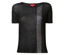 Semi-transparentes T-Shirt mit kontrastierenden