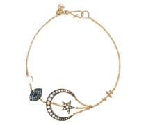 18kt 'Love Diamonds Lunar' Gelbgoldarmband