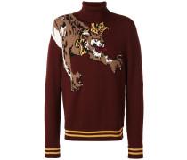 Pullover mit Leopardenmotiv