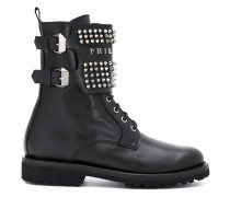 studded buckle boots