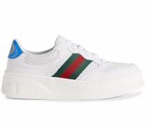 Web stripe sneakers