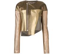 metallic zip jacket